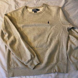 Grey ( navy blue horse) Polo sweatshirt